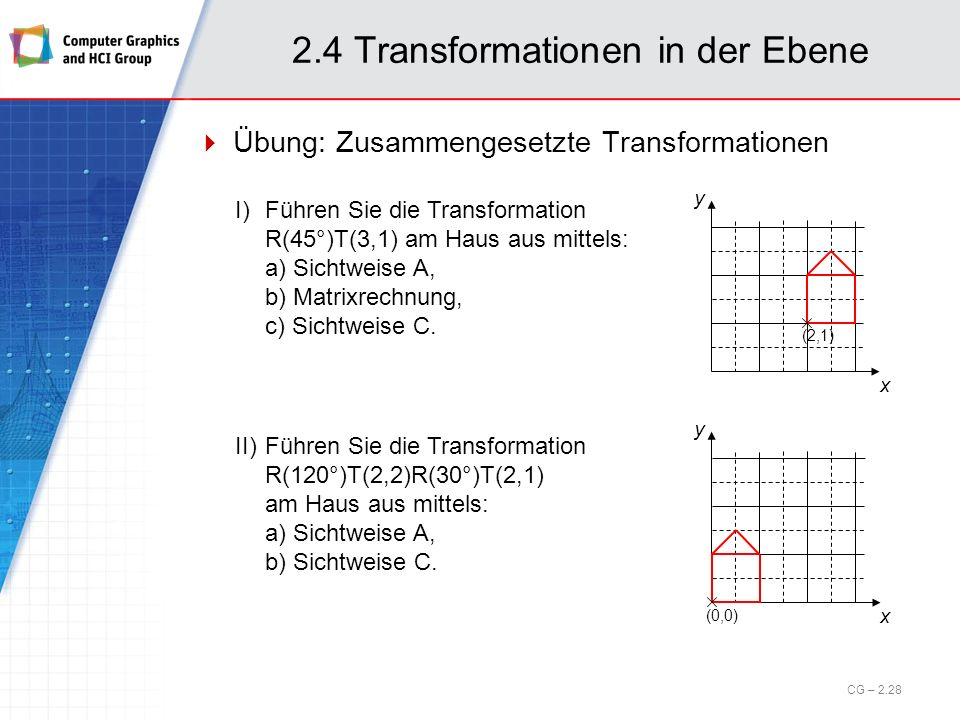 2.4 Transformationen in der Ebene