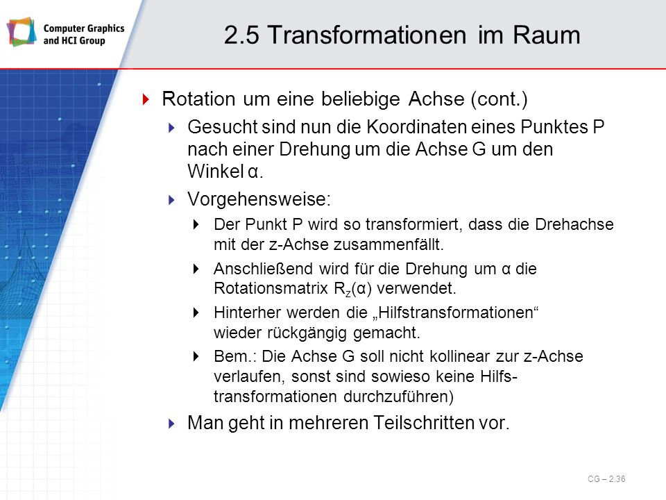 2.5 Transformationen im Raum