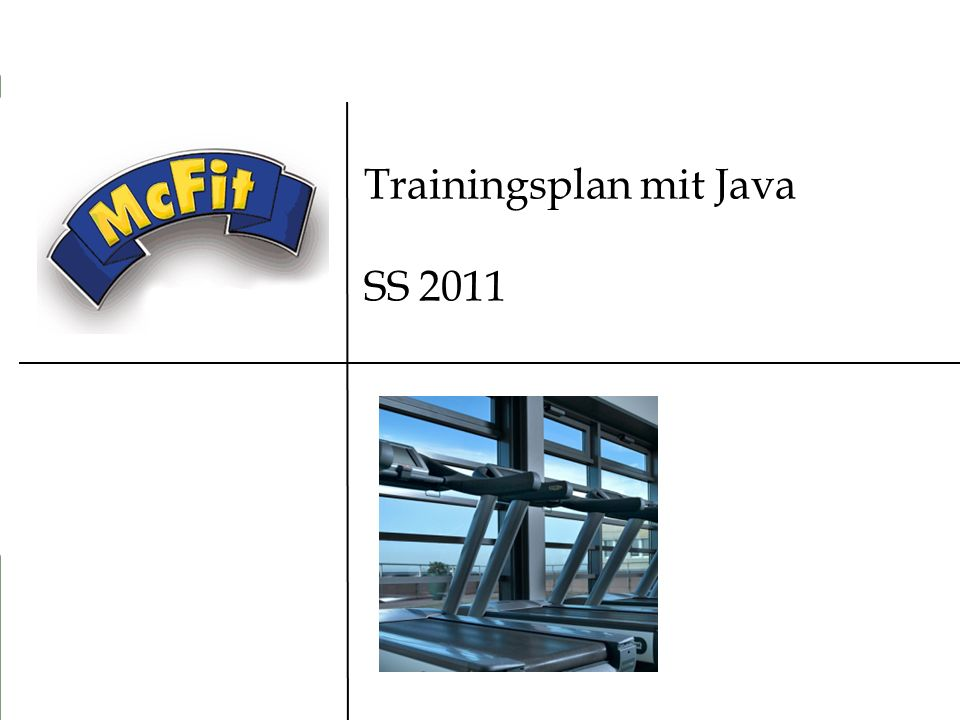 Trainingsplan mit Java