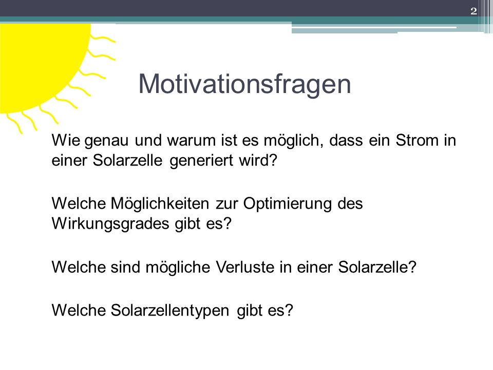 Motivationsfragen