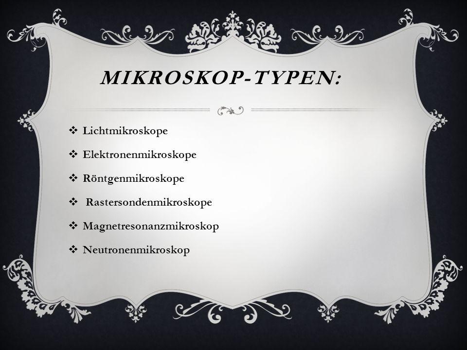 Mikroskop-Typen: Lichtmikroskope Elektronenmikroskope