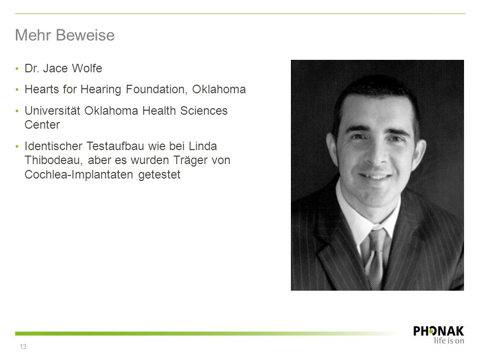 Mehr Beweise Dr. Jace Wolfe Hearts for Hearing Foundation, Oklahoma