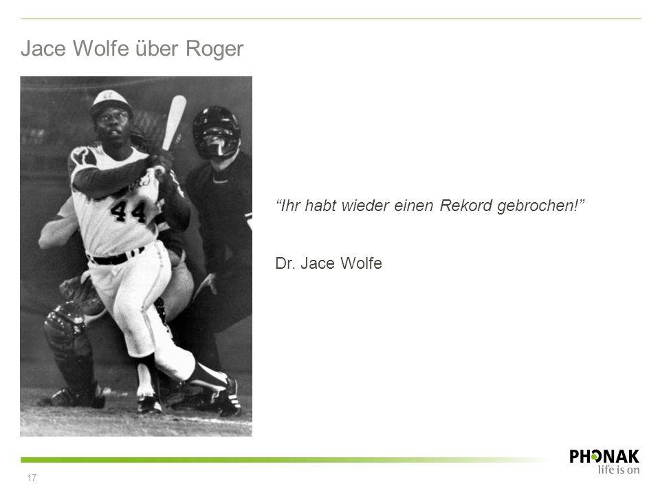 Jace Wolfe über Roger Ihr habt wieder einen Rekord gebrochen!