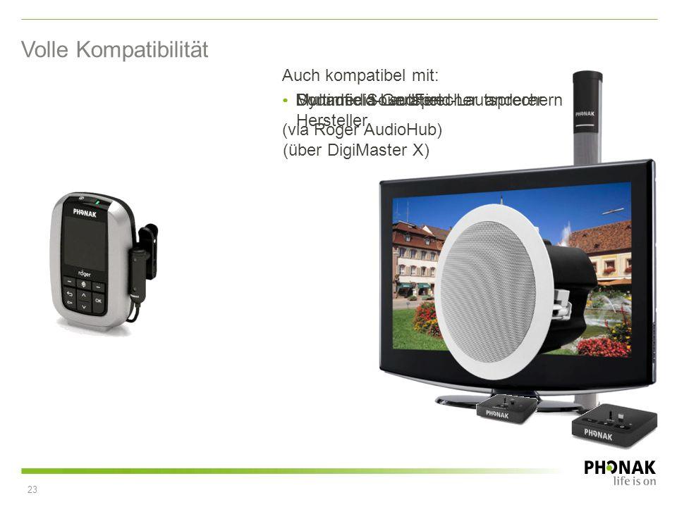 Volle Kompatibilität Auch kompatibel mit: Multimedia-Geräten