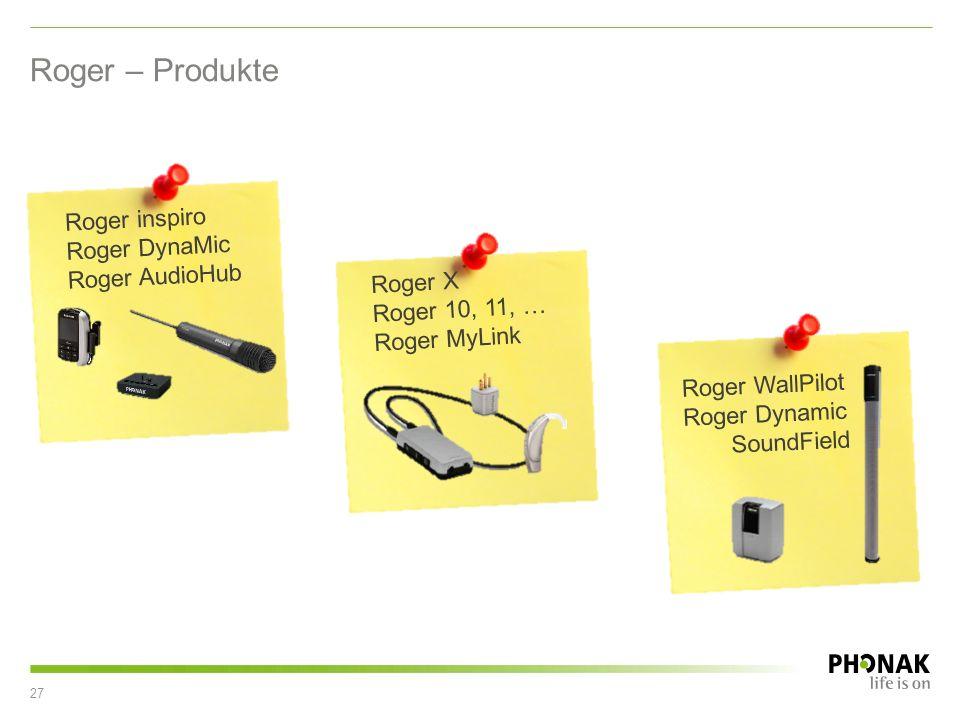 Roger – Produkte Roger inspiro Roger DynaMic Roger AudioHub Roger X