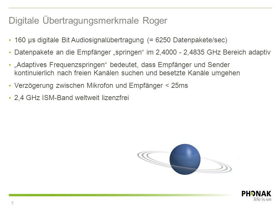 Digitale Übertragungsmerkmale Roger