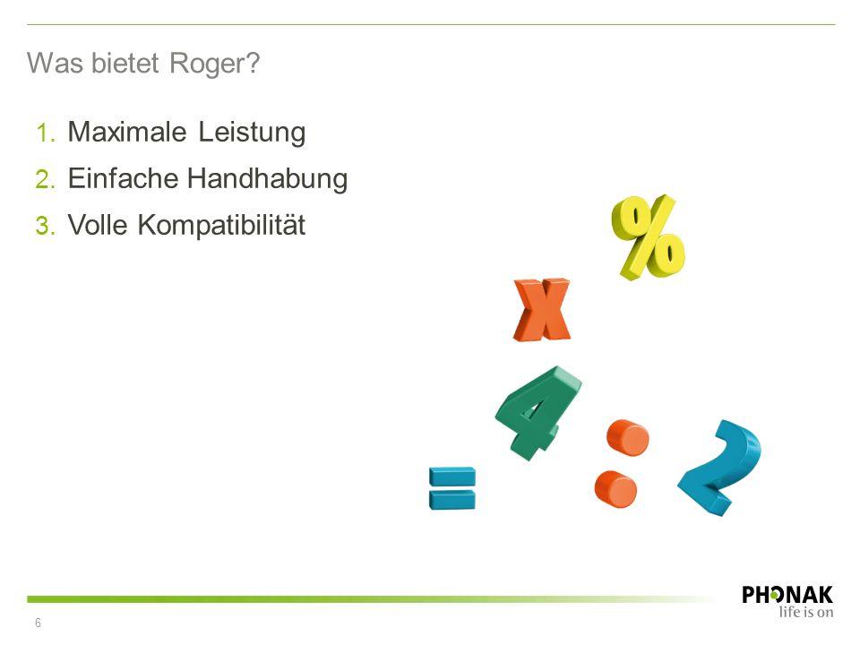 Was bietet Roger Maximale Leistung Einfache Handhabung Volle Kompatibilität