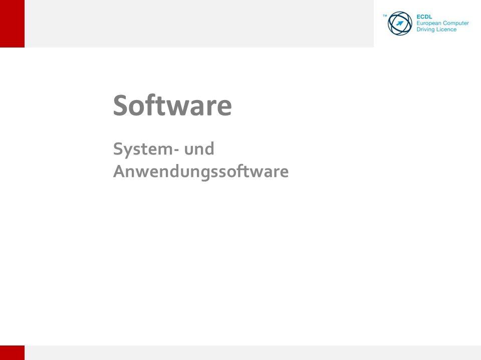 System- und Anwendungssoftware