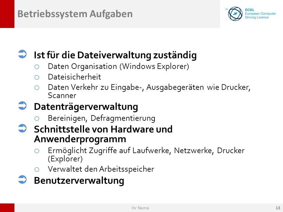 Betriebssystem Aufgaben