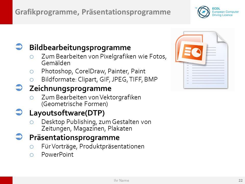 Grafikprogramme, Präsentationsprogramme