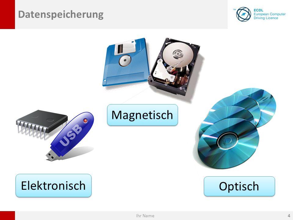 Datenspeicherung Elektronisch Optisch Magnetisch Ihr Name