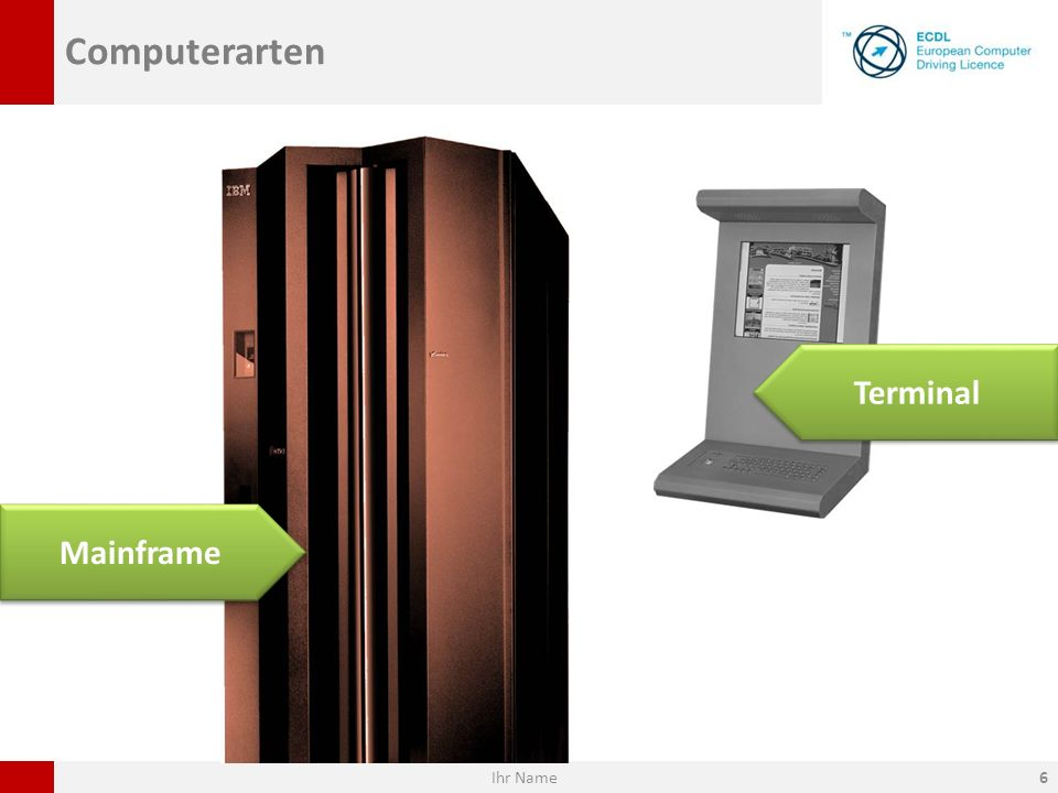 Computerarten Terminal Mainframe Ihr Name