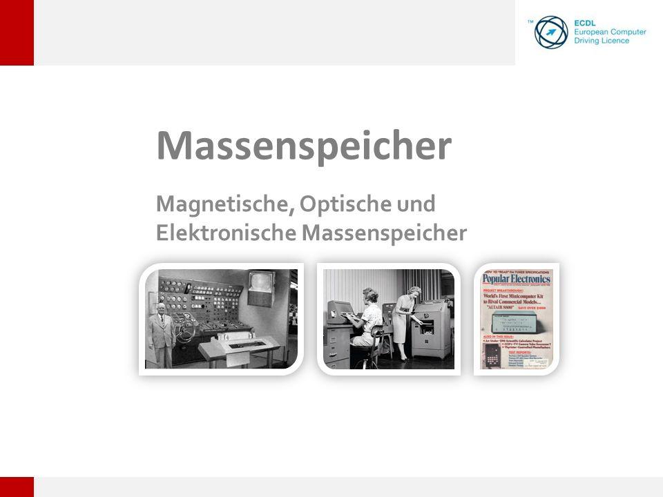Magnetische, Optische und Elektronische Massenspeicher