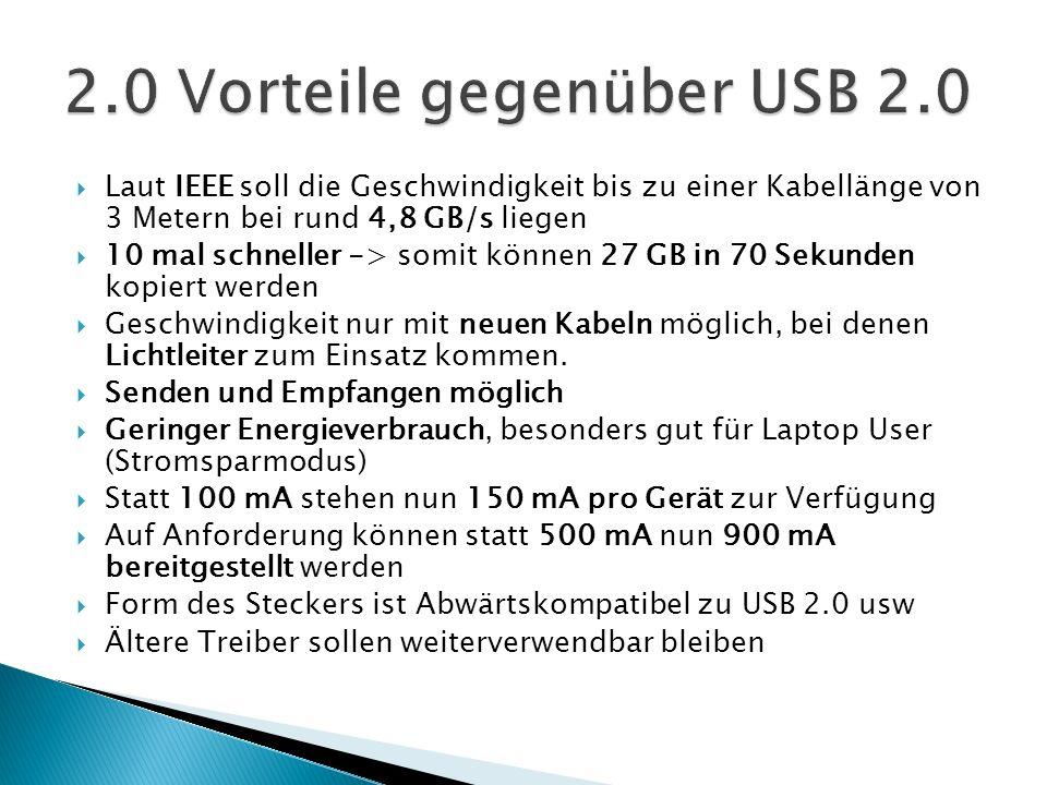 2.0 Vorteile gegenüber USB 2.0