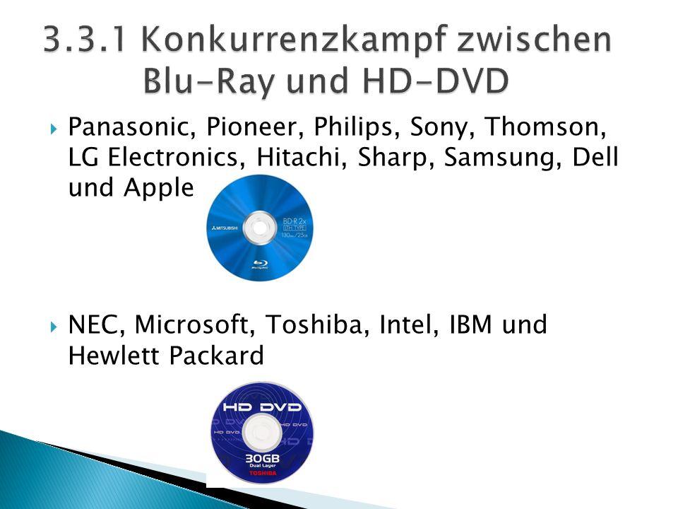 3.3.1 Konkurrenzkampf zwischen Blu-Ray und HD-DVD