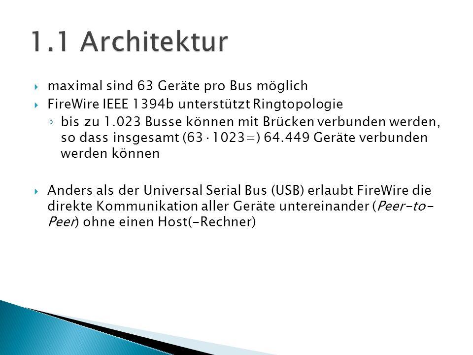 1.1 Architektur maximal sind 63 Geräte pro Bus möglich
