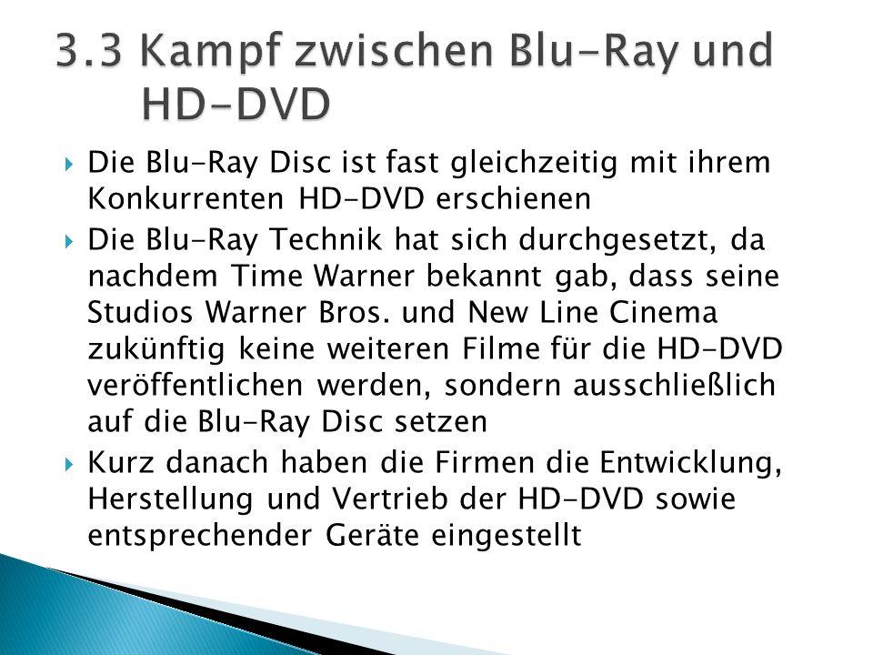3.3 Kampf zwischen Blu-Ray und HD-DVD