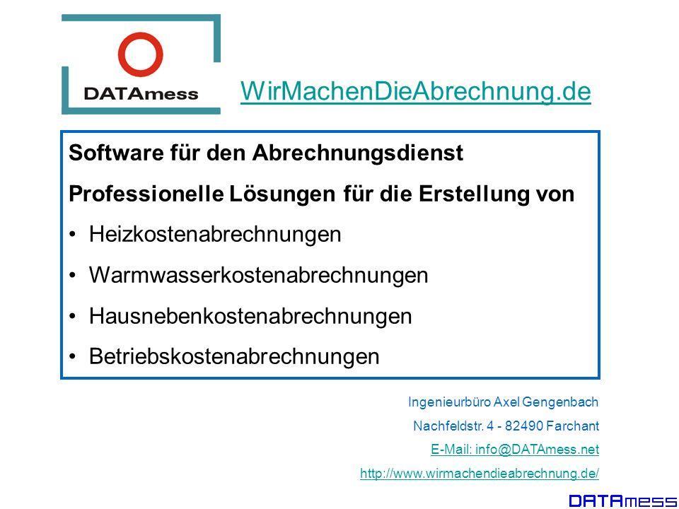 WirMachenDieAbrechnung.de Software für den Abrechnungsdienst