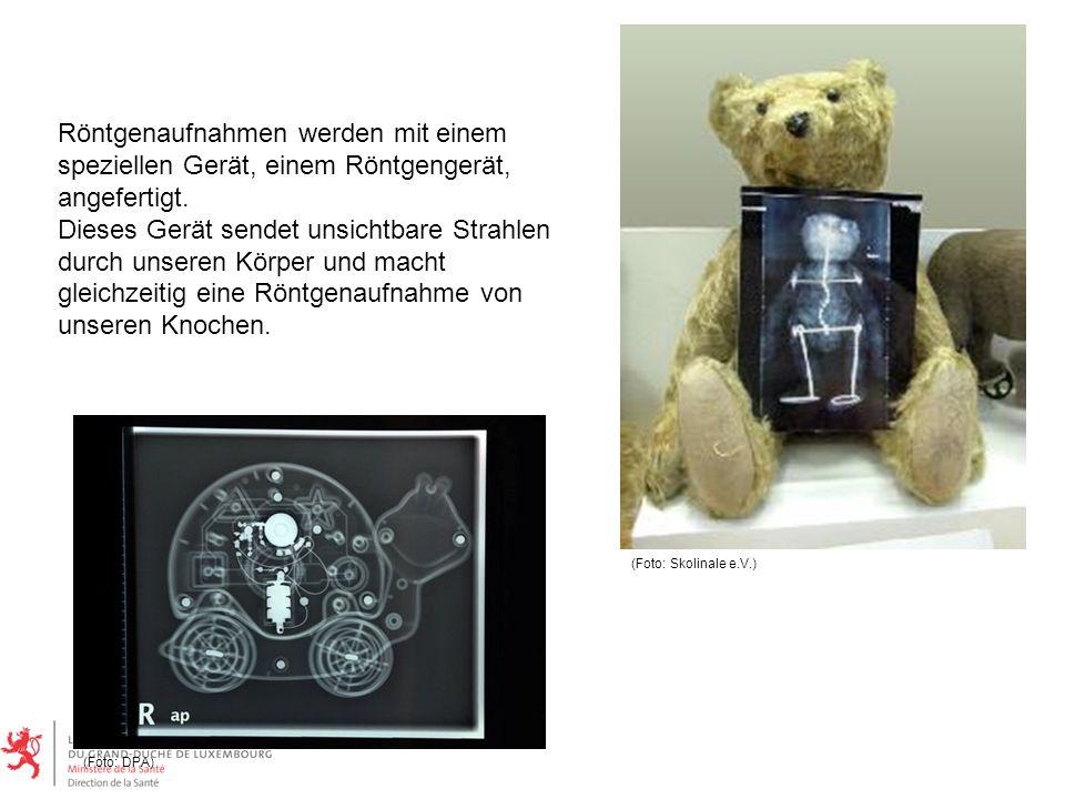 Röntgenaufnahmen werden mit einem speziellen Gerät, einem Röntgengerät, angefertigt.