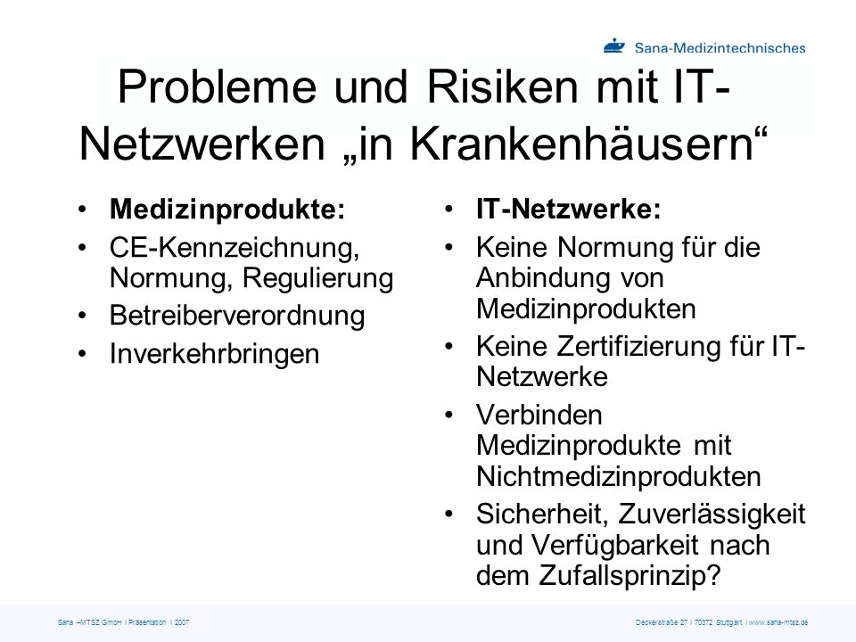 """Probleme und Risiken mit IT-Netzwerken """"in Krankenhäusern"""