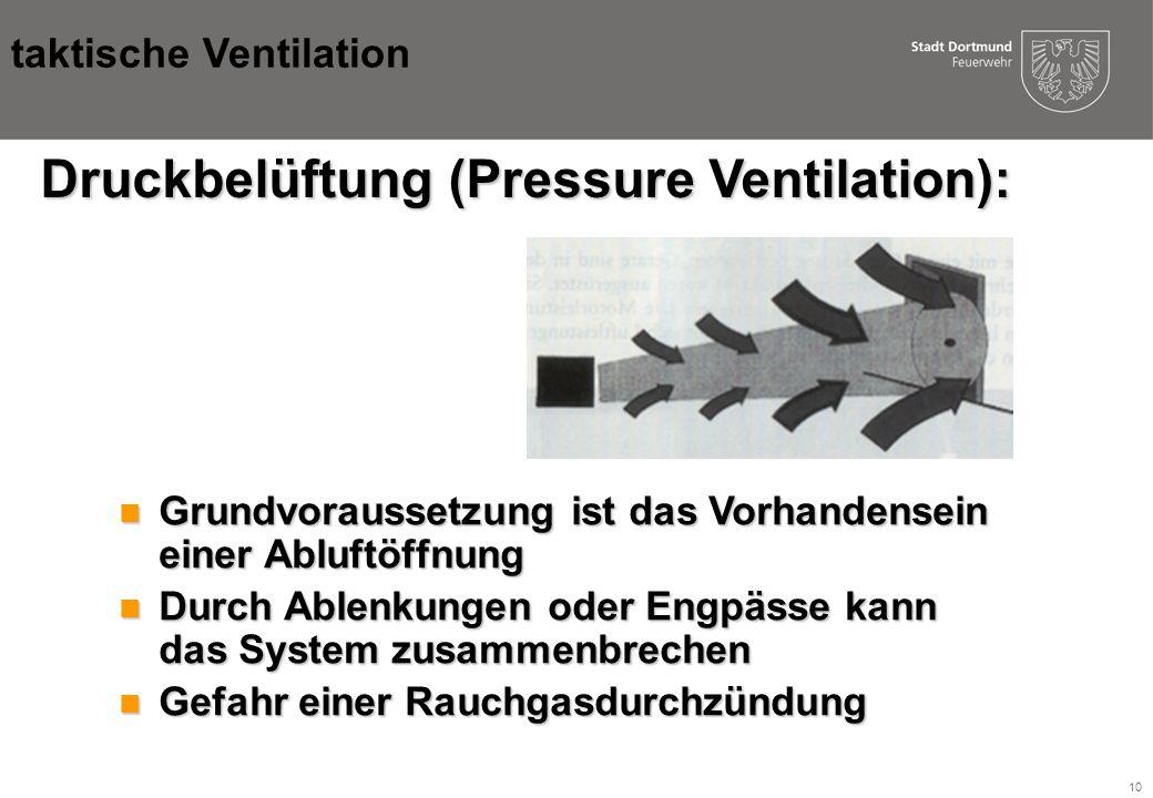 Druckbelüftung (Pressure Ventilation):