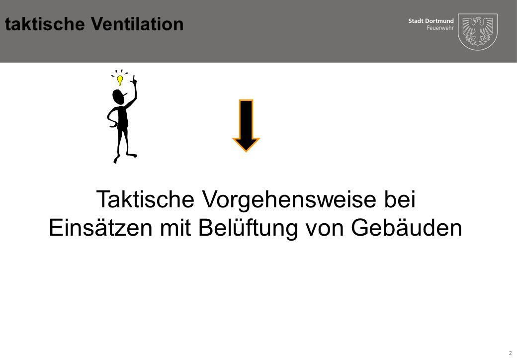 Taktische Vorgehensweise bei Einsätzen mit Belüftung von Gebäuden
