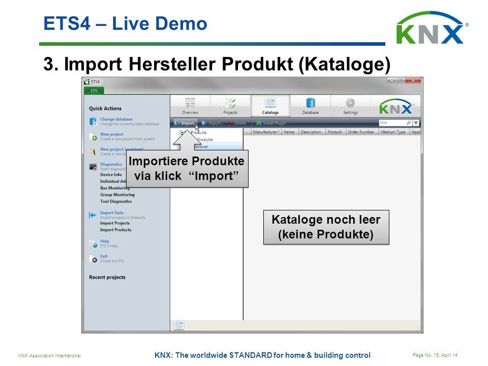 3. Import Hersteller Produkt (Kataloge)