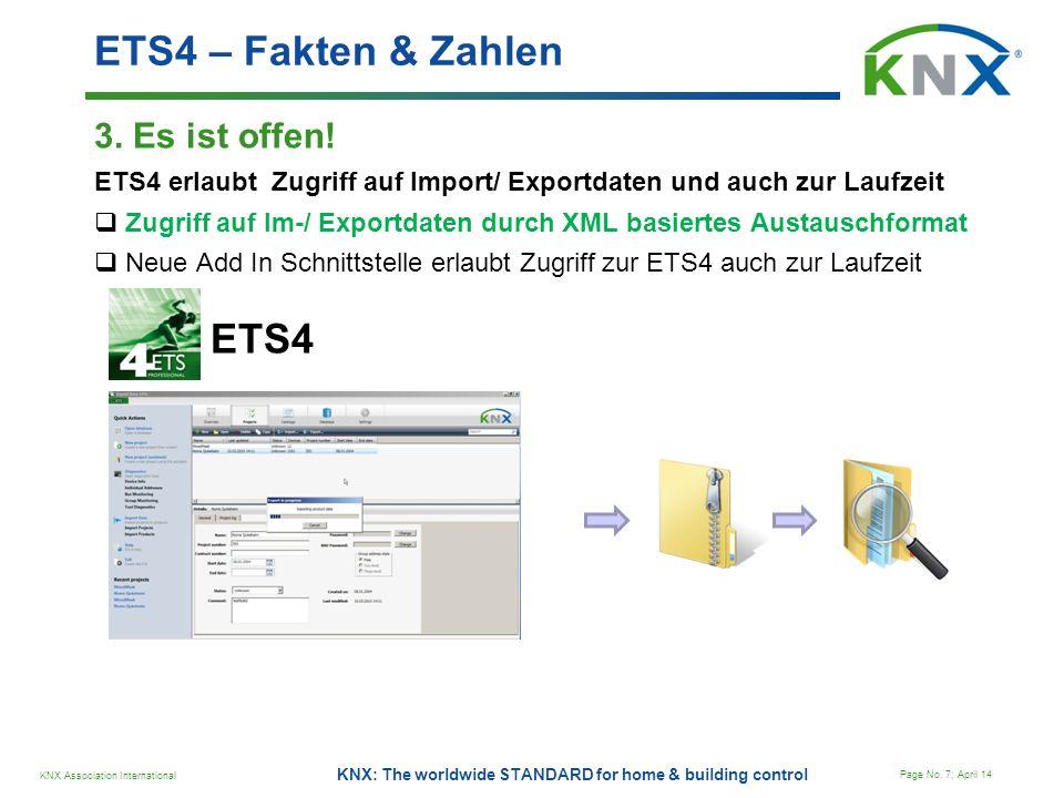ETS4 – Fakten & Zahlen ETS4 3. Es ist offen!
