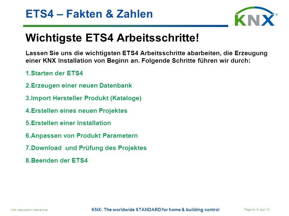 Wichtigste ETS4 Arbeitsschritte!