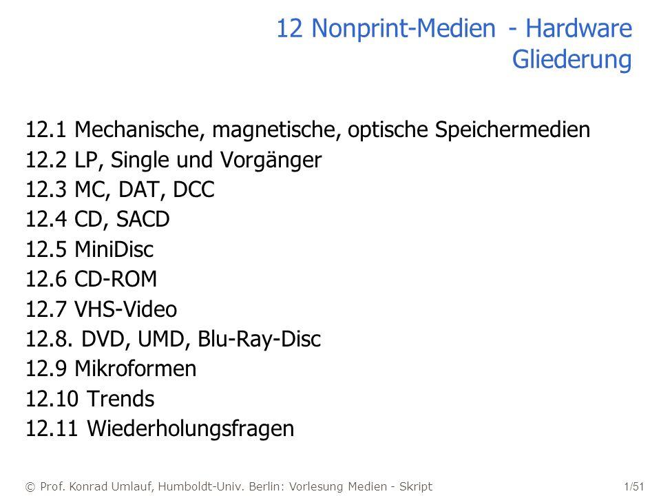 12 Nonprint-Medien - Hardware Gliederung