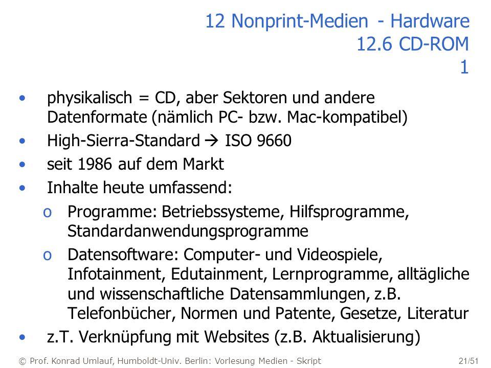 12 Nonprint-Medien - Hardware 12.6 CD-ROM 1