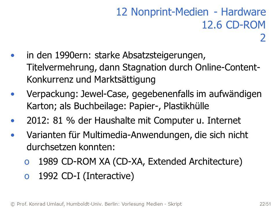12 Nonprint-Medien - Hardware 12.6 CD-ROM 2