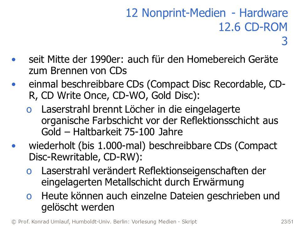 12 Nonprint-Medien - Hardware 12.6 CD-ROM 3