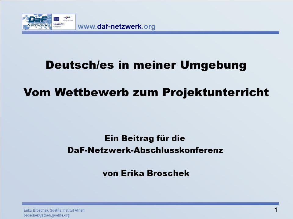 Deutsch/es in meiner Umgebung Vom Wettbewerb zum Projektunterricht