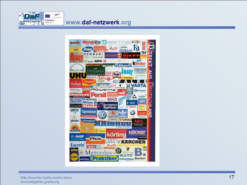 Mögliche Aufgabenstellung: Bringt deutsche Firmennamen mit