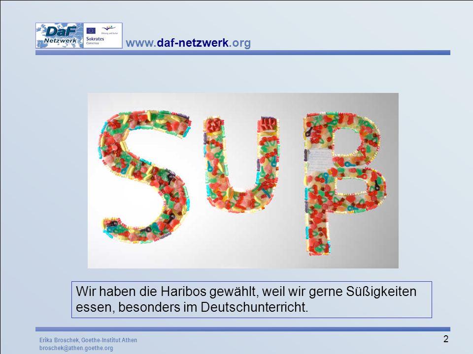"""Dieses Beispiel erinnert noch stark an unsere Wettbewerbe 2004 und 2005 """"Lieblingswort . Mögliche Aufgabenstellung: Stellt ein deutsches Produkt vor, das ihr besonders liebt!"""