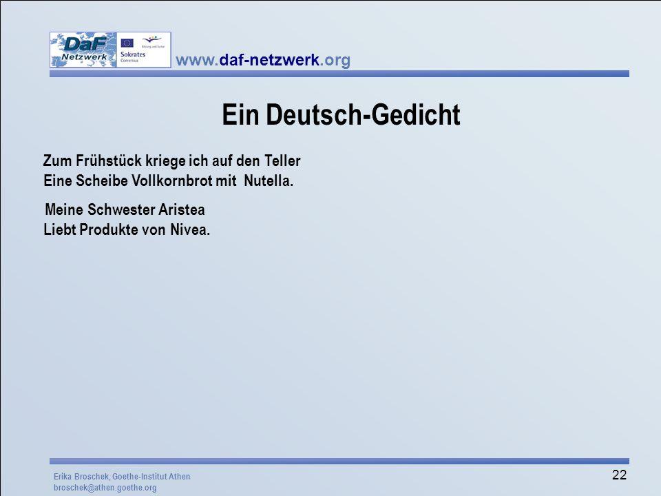 Ein Deutsch-Gedicht