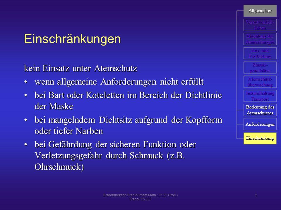 Branddirektion Frankfurt am Main / 37.23 Groß / Stand: 5/2003