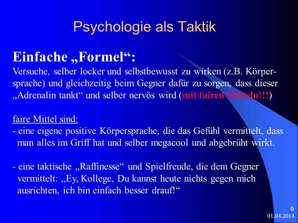 Psychologie als Taktik