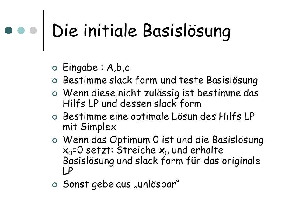 Die initiale Basislösung