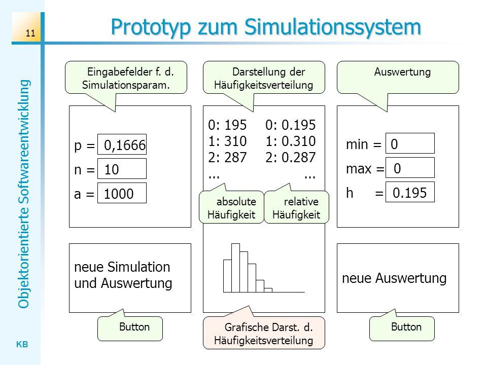 Prototyp zum Simulationssystem