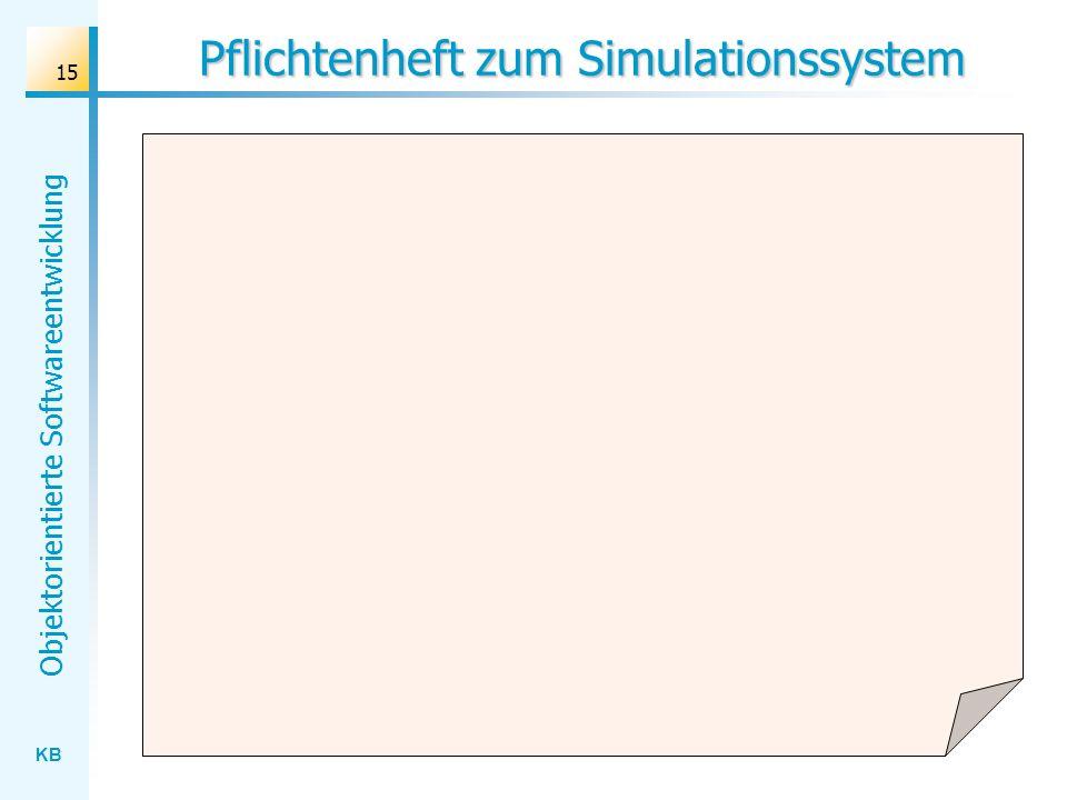 Pflichtenheft zum Simulationssystem