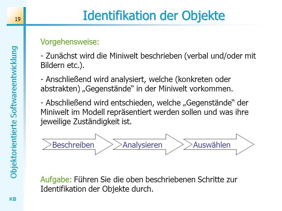 Identifikation der Objekte