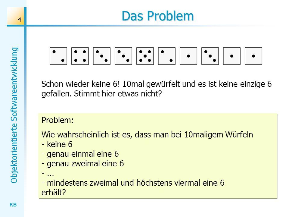 Das Problem Schon wieder keine 6! 10mal gewürfelt und es ist keine einzige 6 gefallen. Stimmt hier etwas nicht