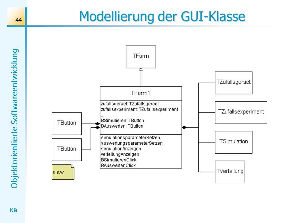 Modellierung der GUI-Klasse