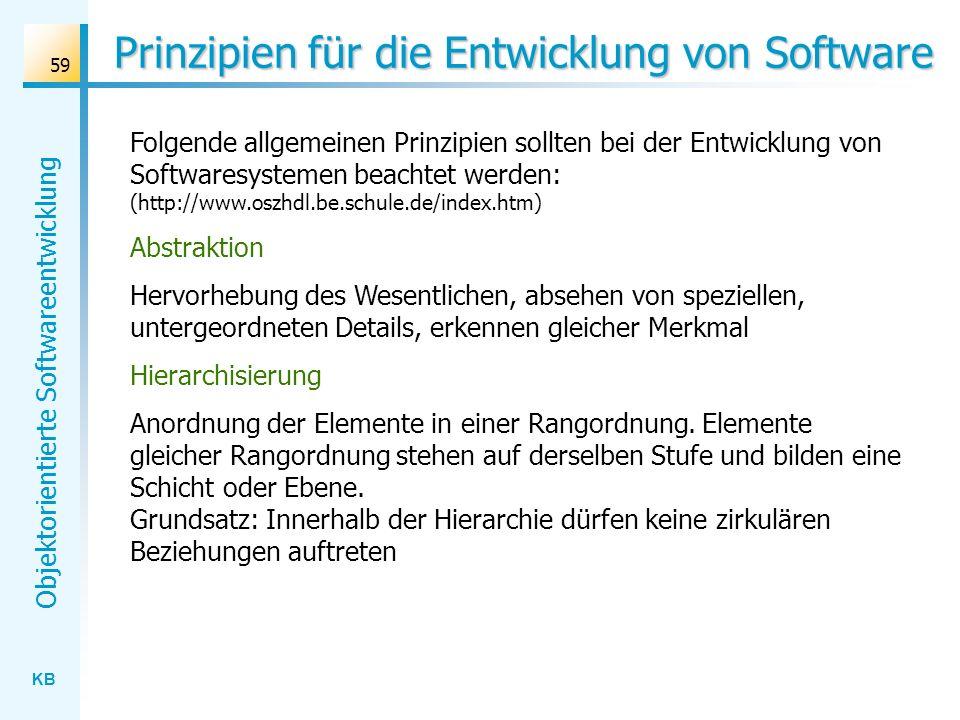 Prinzipien für die Entwicklung von Software