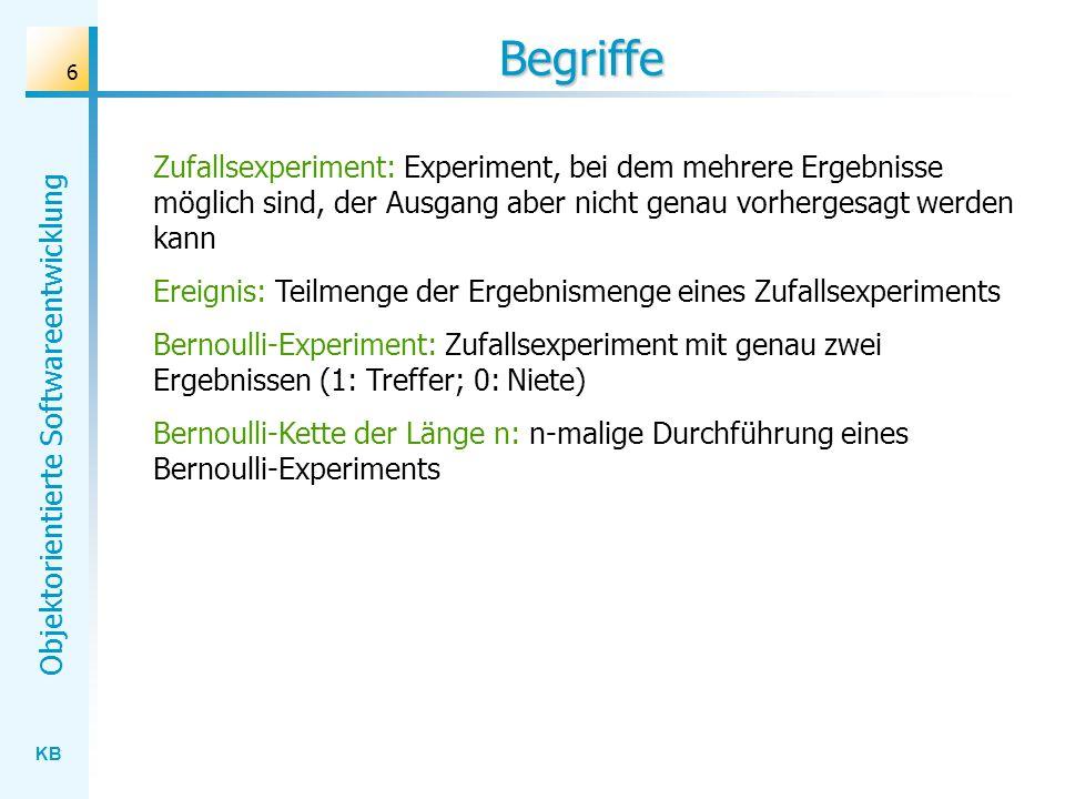 Begriffe Zufallsexperiment: Experiment, bei dem mehrere Ergebnisse möglich sind, der Ausgang aber nicht genau vorhergesagt werden kann.