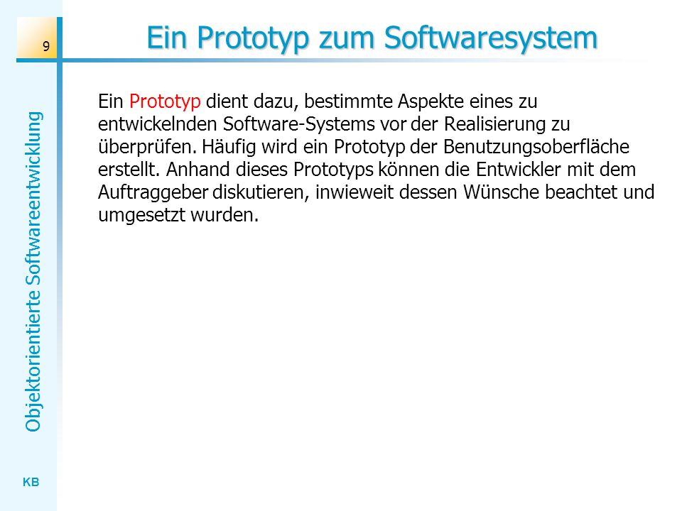 Ein Prototyp zum Softwaresystem