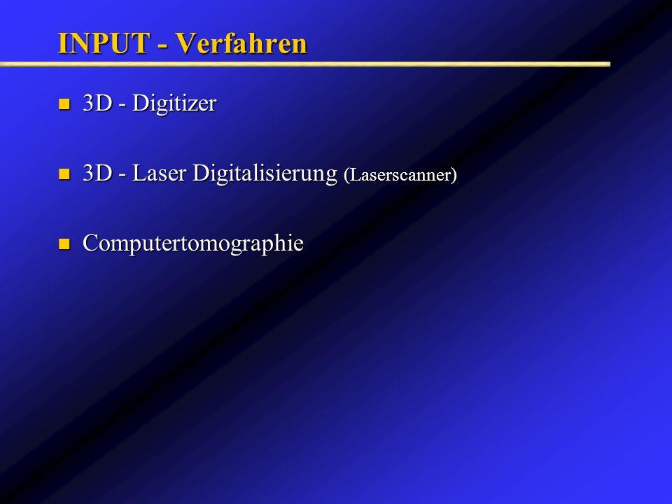 INPUT - Verfahren 3D - Digitizer