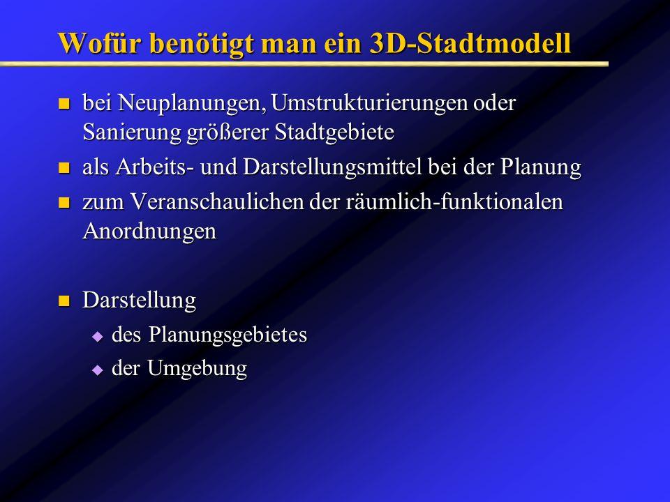 Wofür benötigt man ein 3D-Stadtmodell